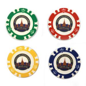 Poker Chip Ball Marker-custom logo