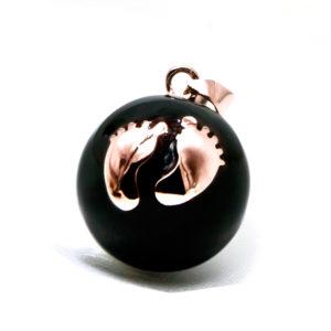 Babyfeet-Pinkgold-Black-Enamel