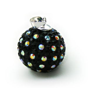 Crystal Paved Mexican Bola-20mm-Polka Dot 1