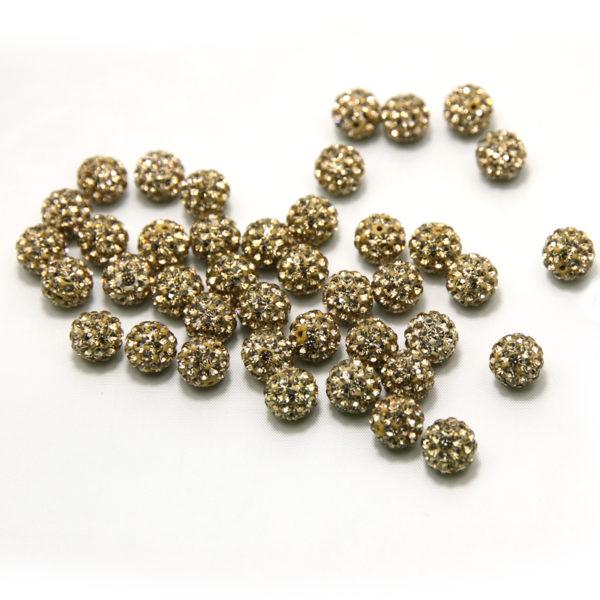 Crystal Diamantine Ball Bead-8mm.Half Drilled 1mm.- Plain Colour