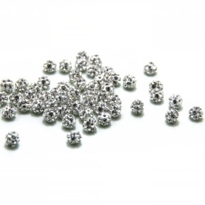 Crystal Diamantine Ball Bead-5mm. Half Drilled 1mm