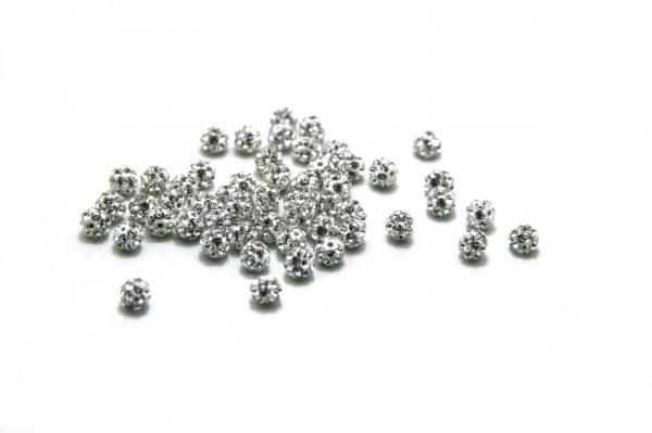 Crystal Diamantine Ball Bead-5mm. Half Drilled 1mm.- Plain Colour