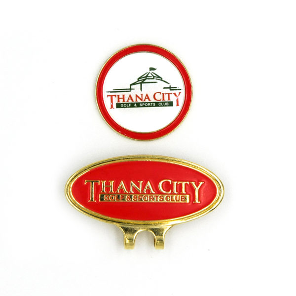logo golf hatclip